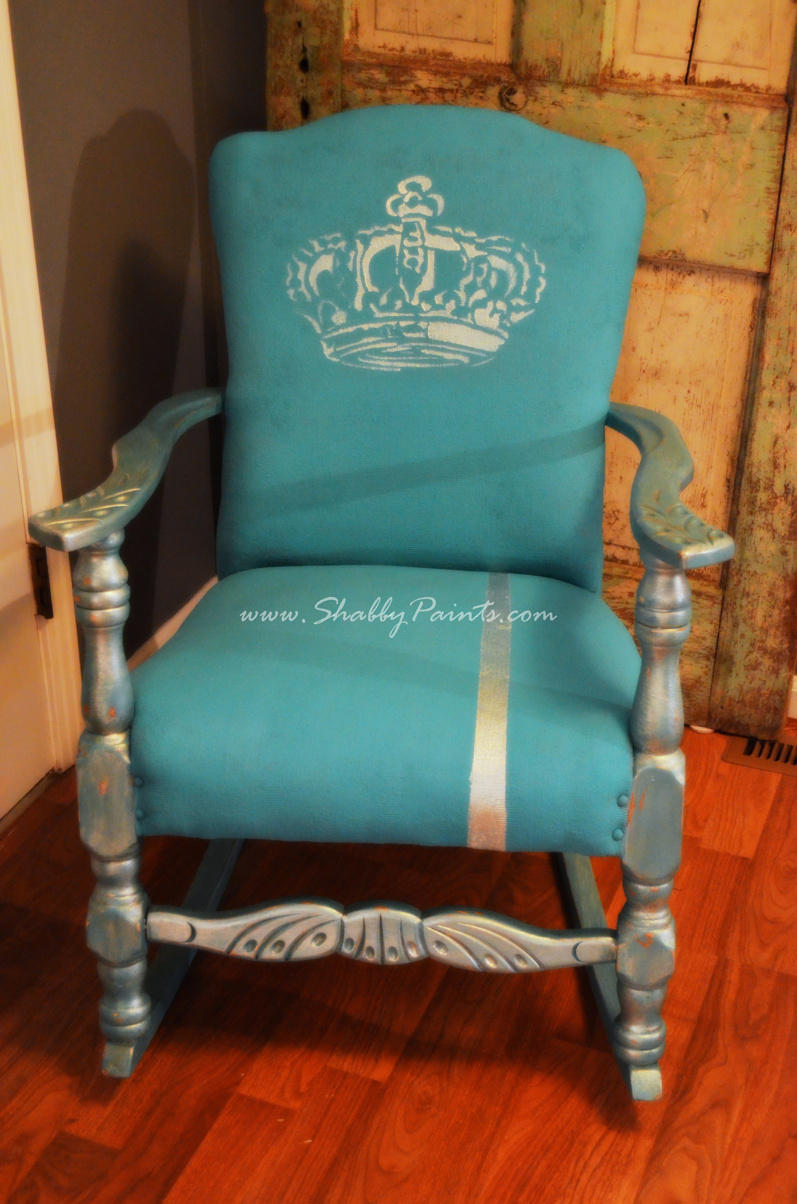 Shabby chic painted rocking chairs - How