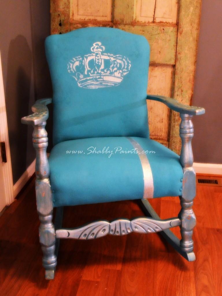 Chalk Paint Chair Fabric