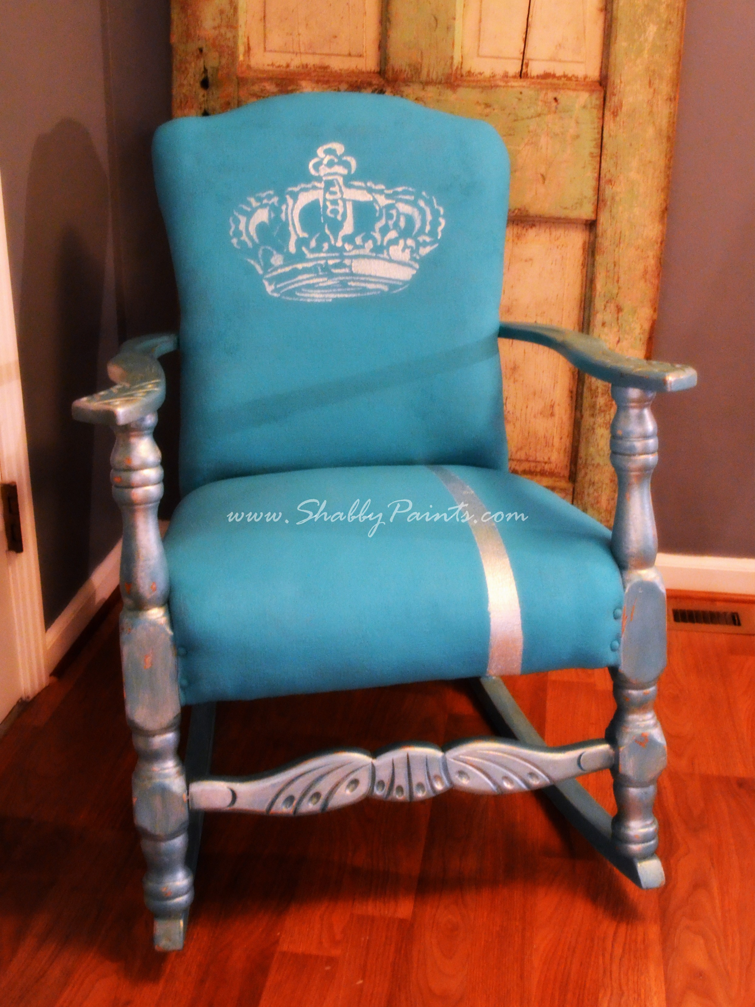 Painted fabric chairs - Original Nursery Chair Makeover