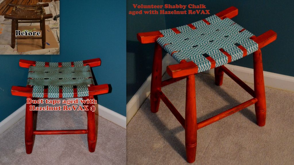 ... Volunteer Duct Tape Chevron Hazelnut Stool