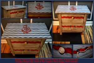 Nautical Driftwood faux finish