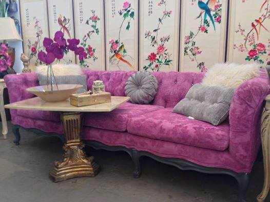 Chalk Painted Fabric Sofa By Furniture Galore U0026 More ...