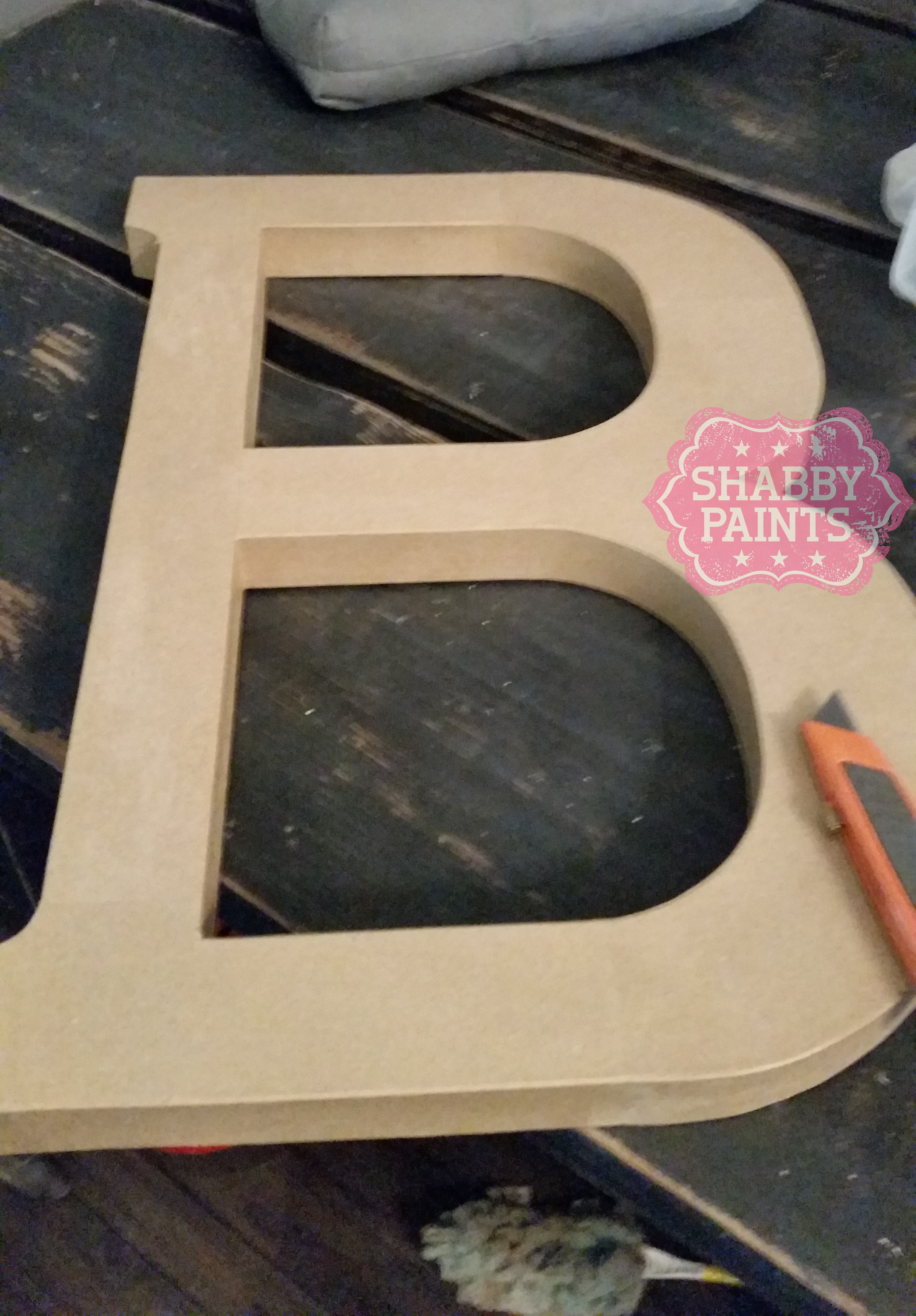 paper mache letter diy light marquee