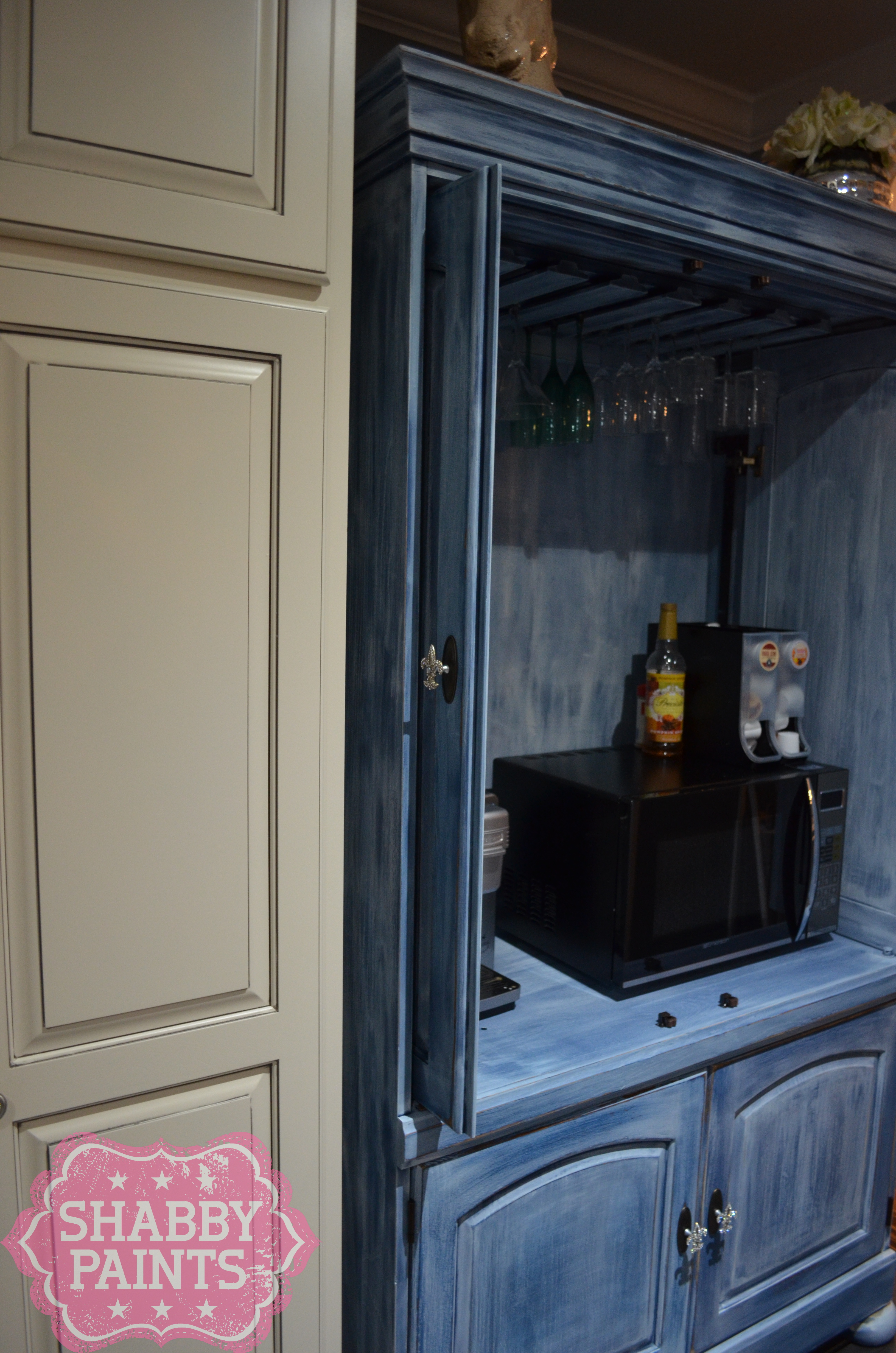 Tv Entertainment Center Repurposed Kitchen Pantry Coffee Bar