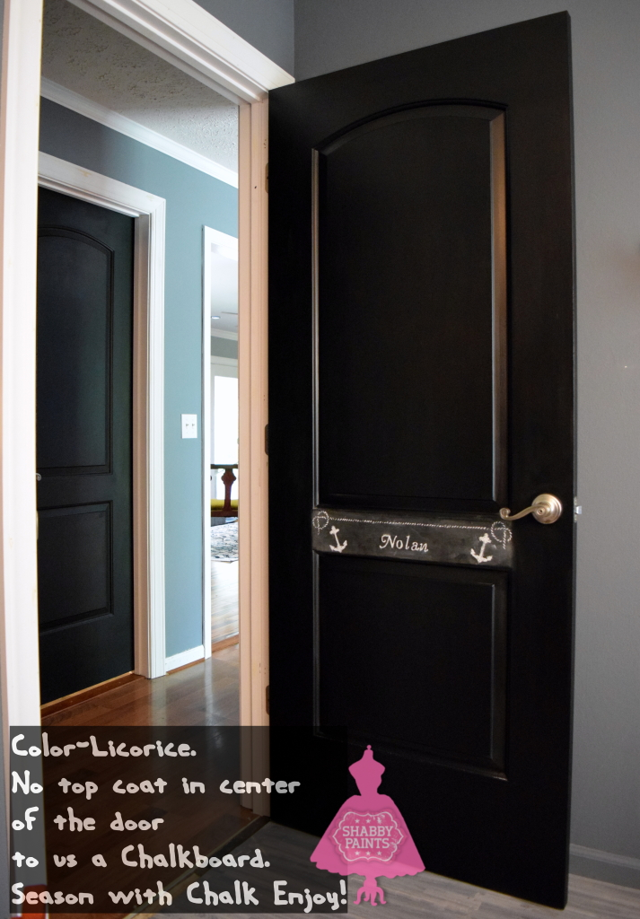 Black doors and a chalkboard shabby paints for Paint for doors interior