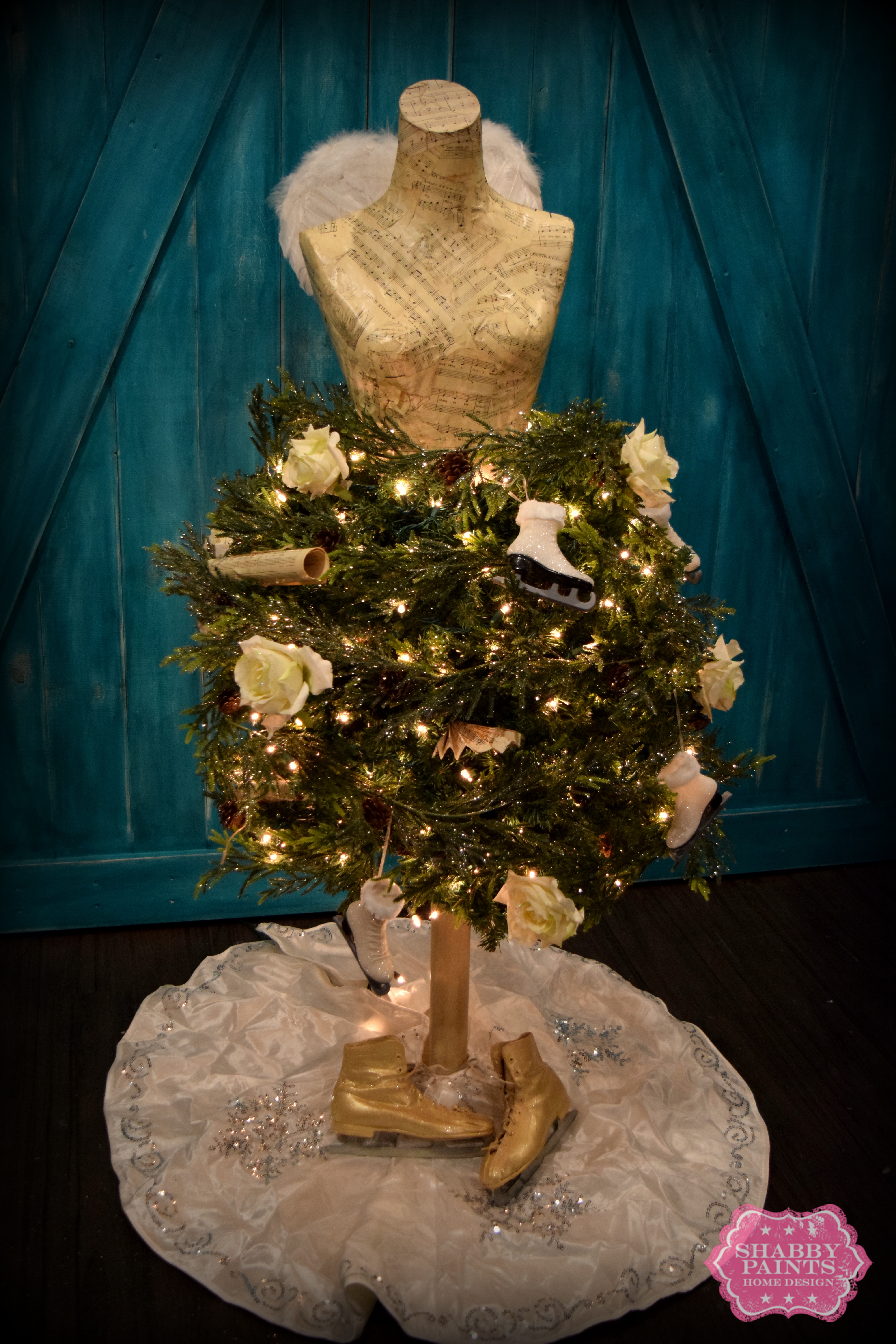 Dress form christmas tree how to shabby paints