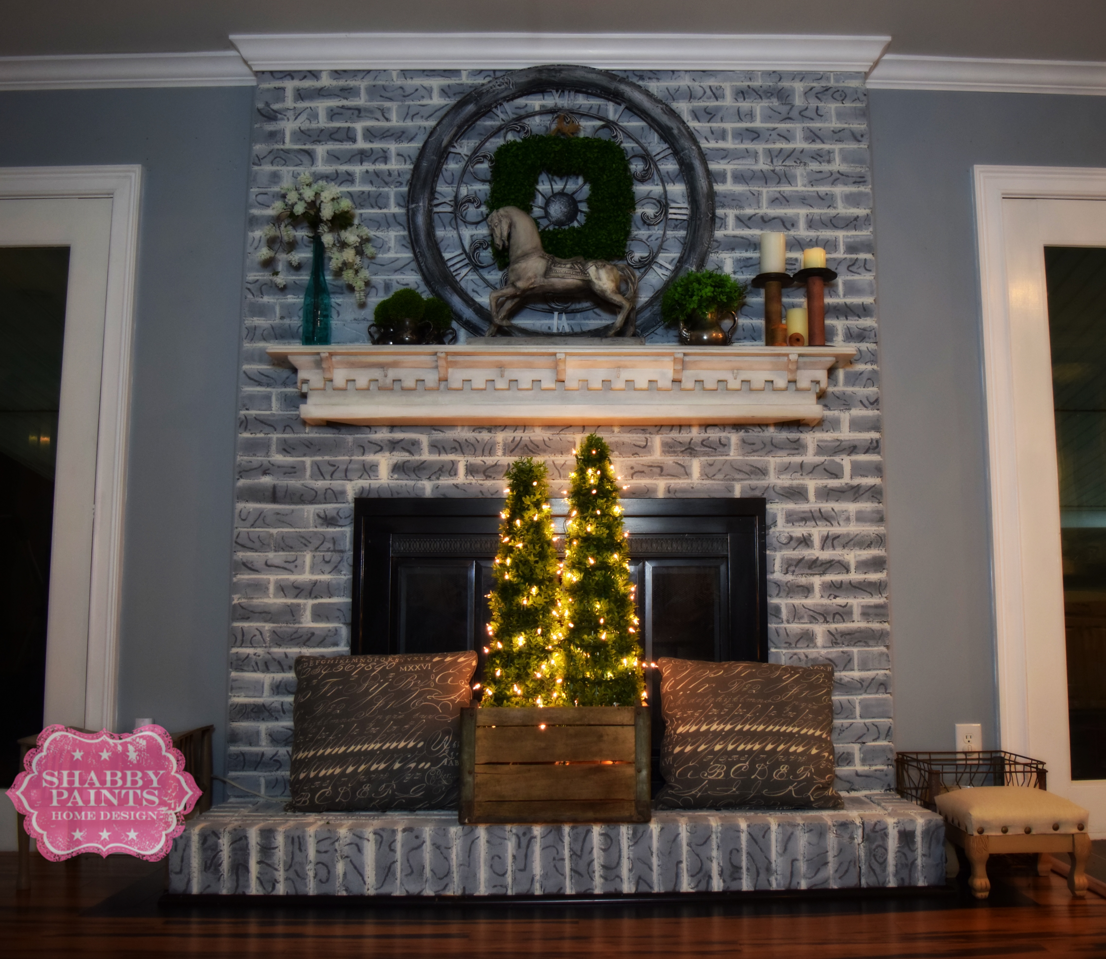 Painted brick Farmhouse look