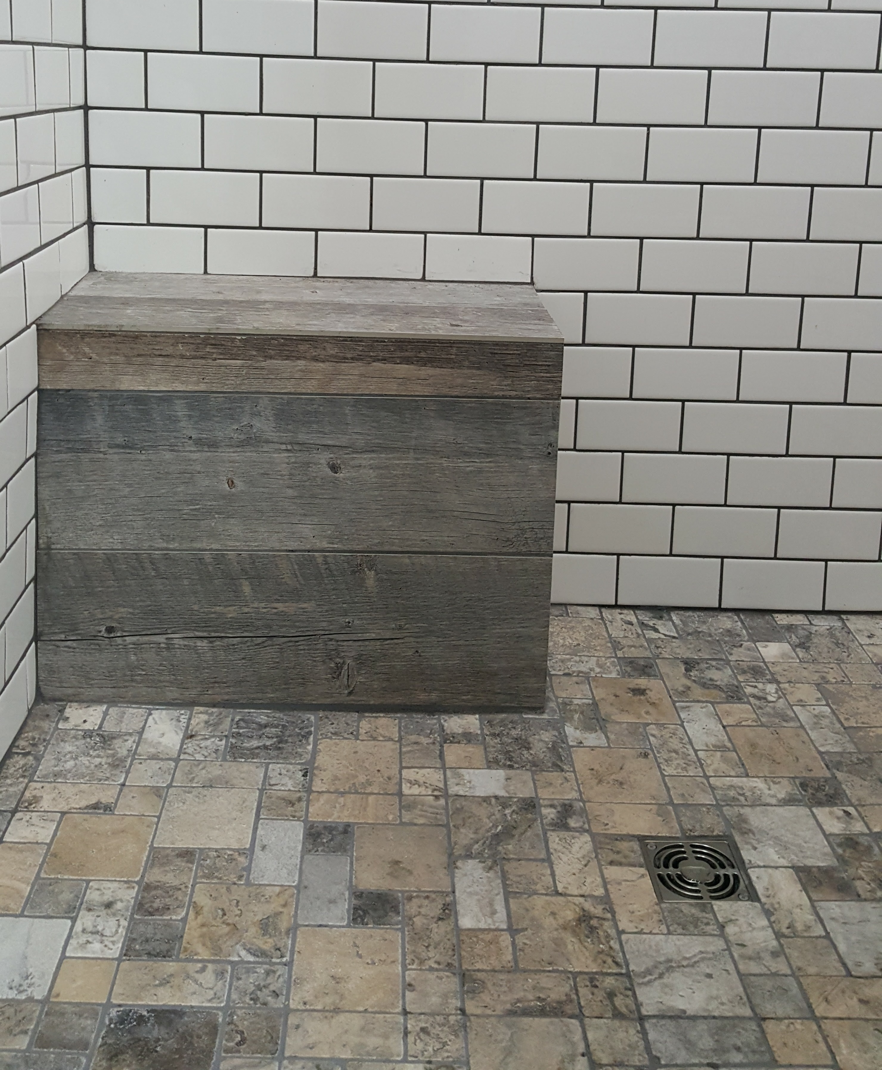 Large Subway Tiles Bathroom: Large Subway Tile Bathroom