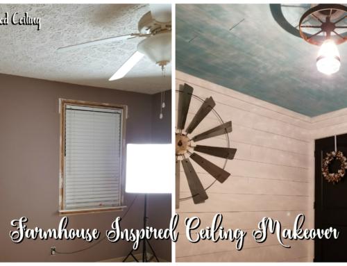 Farmhouse Inspired Ceiling Makeover