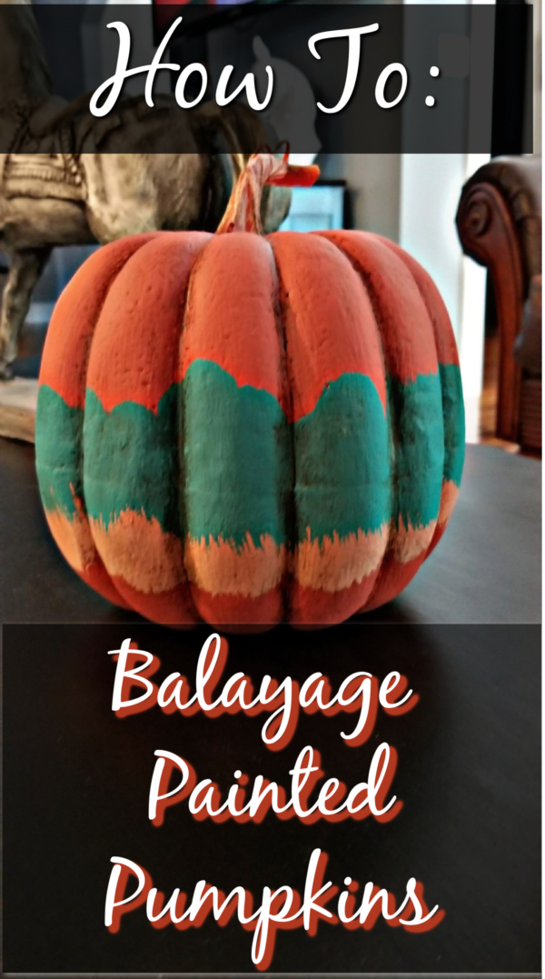 balayage painted pumpkin 4 colors