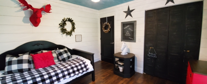 Farmhouse DIY Shiplap on a budget